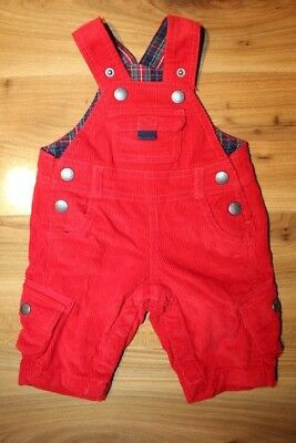 JoJo maman Bebe boys red cord dungarees 0-3 months *I'll combine postage*(56)
