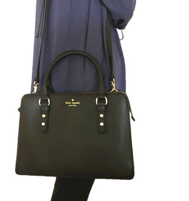 b4fe6d8e69 NWT KATE SPADE Lise Mulberry street Leather Satchel handbag Black ...
