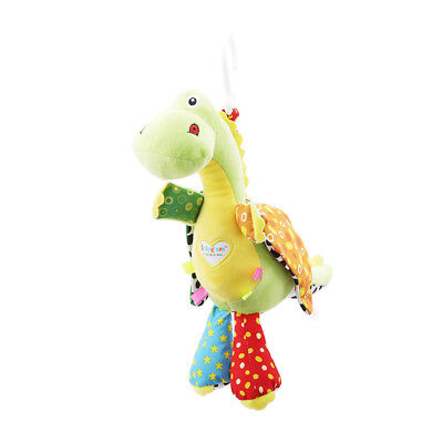 Musical Cartoon Plush Stroller Hanging Bell Baby Kids Educational Rattles Toy N7