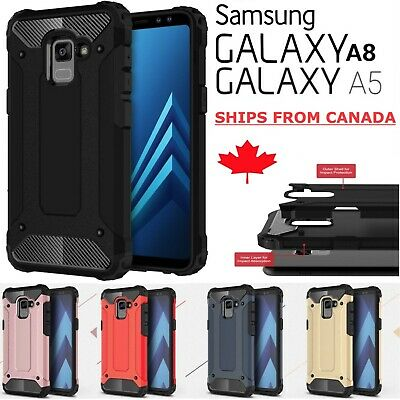 For Samsung Galaxy A5 2017 A8 2018 Shockproof Hybrid Armor Tough 360 Phone Case