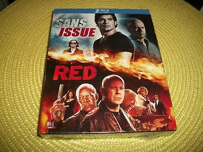coffret 2 DVD blu-ray, sans issu et red, bruce willis, film aventure, neuf
