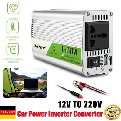 1500W Car Power Inverter pure Sinus Wechselrichter DC 12V AC 220V Converter DHL