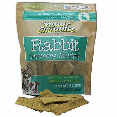 Yummy Chummies ALL NATURAL Rabbit Savory Strips Grain & Gluten Free Made in the
