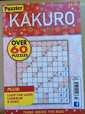 Puzzler Kakuro puzzle book Issue 107 110 112 or 113 -4 Issues Available U Choose