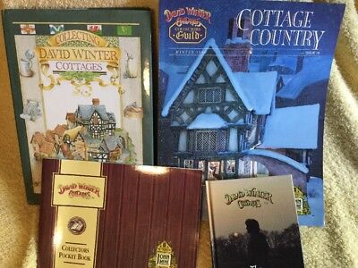 David Winter Cottages Book Lot Collectors Book Pocket Book Collecting Cottages