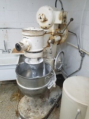 Hobart 80 Quart Mixer with Bowl & Dough Hook - 3 Phase - Works Perfectly