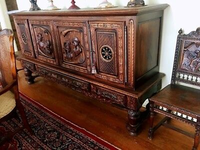 *Antique French Breton (Brittany) Sideboard/Buffet