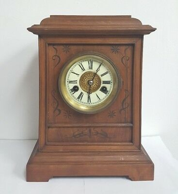 Antique Mantle clock H.A.C. 14 day Strike early 1900's Made in Germany
