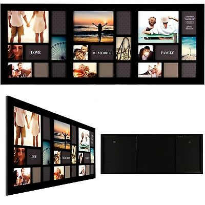20 X 48 Black 21 Opening Collage Frame Home Decor Gift Family