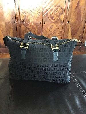 e2a758f31bb3 ... Fendi Black Monogram Zucca Boston Bag sale retailer 15e33 39f65  Fendi  Bags - Vintage ...