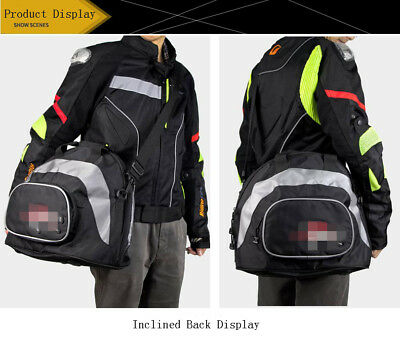 Multi-Function Waterproof Magnetic Motorcycle Helmet Bag Saddlebags Backbag PU