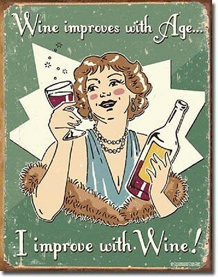 Schonberg - Wine Improved  Metal Tin Sign Wall Art