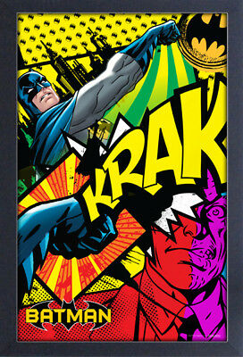BATMAN KRAK 13x19 FRAMED GELCOAT DC COMICS BRUCE WAYNE ROBIN JOKER GOTHAM CITY!!
