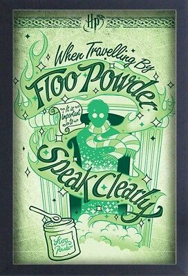 HARRY POTTER FLOO POWDER 13x19 FRAMED GELCOAT MOVIE MAGIC COOL GIFT NEW FUN BDAY