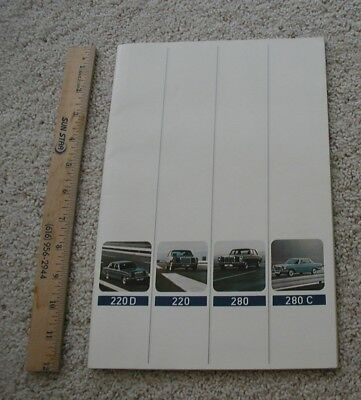 1972 Mercedes Benz New Car Dealer Brochure.220D 220 280 280C