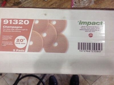"""5 pads Impact Ultra High-Speed Floor Pads, 20""""dia, Champagne,  (91320)"""