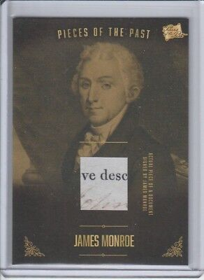2017 The Bar Pieces of the Past US President JAMES MONROE Signed Document Relic