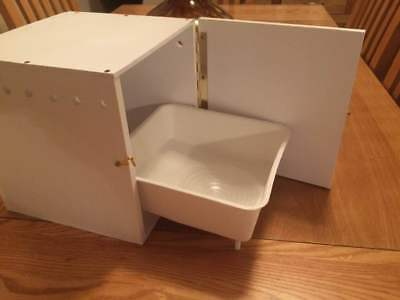 new plastic budgie nest box with plastic concave tray