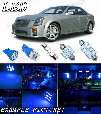 10pcs 10K Blue LED Interior Lights Package KIT Bulbs For 03-2007 Cadillac CTS PD