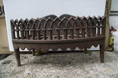 Antique Cast Iron Fireplace Insert ,Grate For Wood Or Coal,Circa 1900