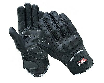 Lighweight Vented Leather Motorbike Motorcycle Gloves Knuckle Shell Protection