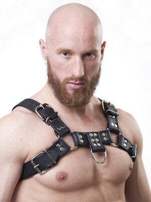 Brust Harness Rindsleder schwarz PARUS [MUC] leather gay Muscle NEU