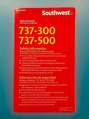 Retired Southwest Airlines Safety Card--737-500
