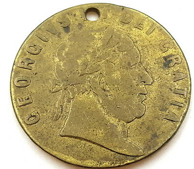 Token George III Dei Gratia Memory Of The Good Old Days 1768