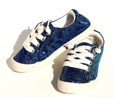 70ae681ffcb GIRL'S SEQUIN GLITTER Sparkle Lace Up Comfortable Flat Sneakers Tennis Shoes