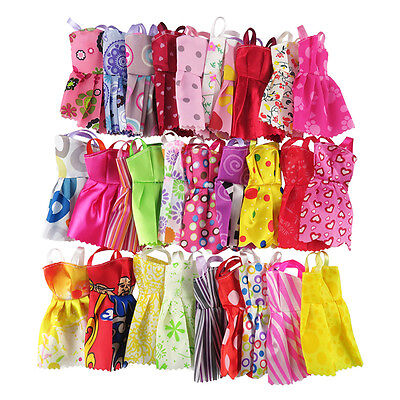3 PCS Fashion Doll Dress Clothes For Doll Toy Kids' Gift Random Tackle TOP