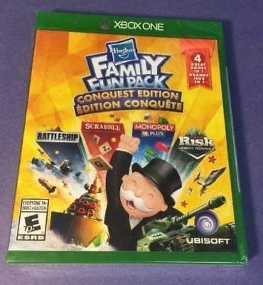 Hasbro Family Fun Pack Conquest Edition 4 Games in 1 Risk Scrabble Xbox One NEW