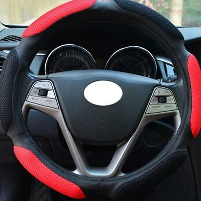 Luxury Auto Car Steering Wheel Cover Carbon Pattern with PU Leather Car Cover S+