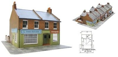Super Quick SQC7 Model Railway Kits OO HO Gauge Scale Red brick terraced Corner