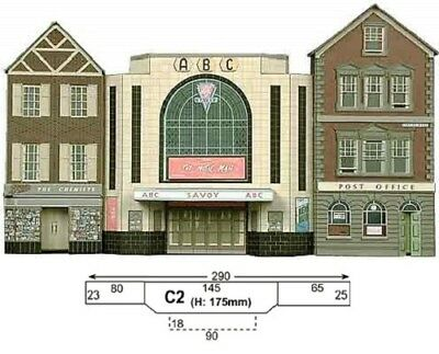 Super Quick SQC2 Model Railway Kits OO HO Gauge Scale Cinema, Post office, Shop
