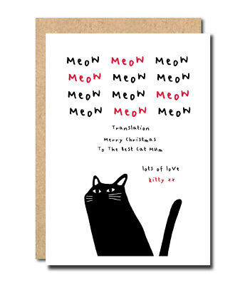 Birthday Card From The Cat Happy Birthday To The Best Cat Daddy Or