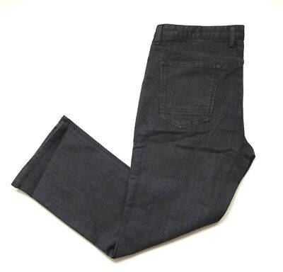 NWT Kenneth Cole New York Men's Straight Fit Jean Gray Wash, Size 36x30