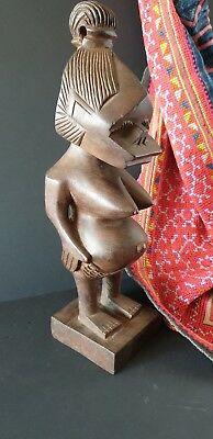 Old African Carved Wooden Woman …beautiful detail & patina