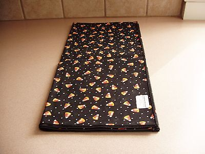 "Longaberger Candy Corn Fall Halloween 36"" Fabric Table Square Nip Usa Free Ship"