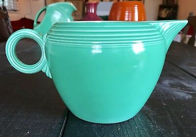 HLC Fiesta 2 Pint Jug Green With Chip For Display Only Damaged