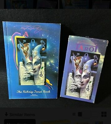 OOP! 1995 Blue Star Communications. Original Rohrig Tarot And Large Book