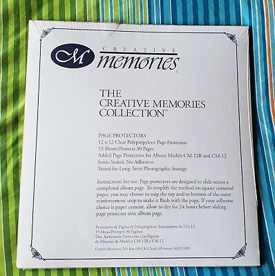 Creative Memories 12x12 Page Protectors New NIP for Premiere/Tapestry album