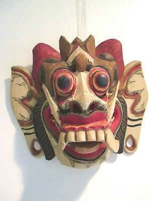 Antique Tribal  Mask Balinese Ceremonial Native  Hand Carved -Reduced!