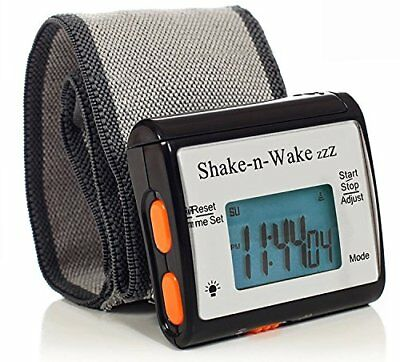 """Shake-N-Wake"" Silent Vibrating Wrist Alarm Clock Detachable Personal for Deaf"