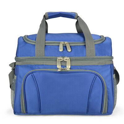 19L Dual Compartments Insulated Lunch Bag Cooler Bag School Picnic Work Outdoor