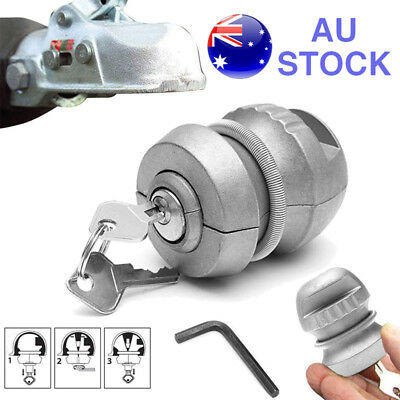 Insertable Trailer Coupling Hitch Lock Tow Ball Caravan For Security 50mm