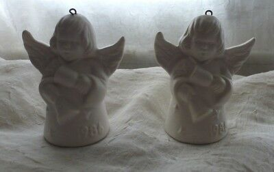 2 1986 Goebel Angel Bells Ornaments