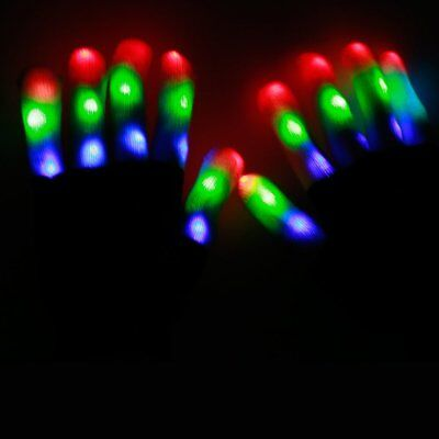 LED flashing Gloves Flash Light Glow Gloves Mittens Christmas Party Club Gift