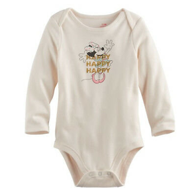 Disney Baby Minnie Mouse bodysuit Cream And Pink 3-6 months