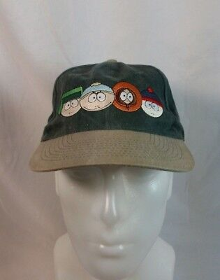 South Park Comedy Central hat cap Cartman Kenny Stan Kyle characters vtg 1998