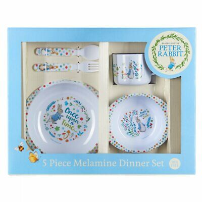 New Beatrix Potter PETER RABBIT Melamine Classic Dinner Set 5pc - Plate Bowl Cup